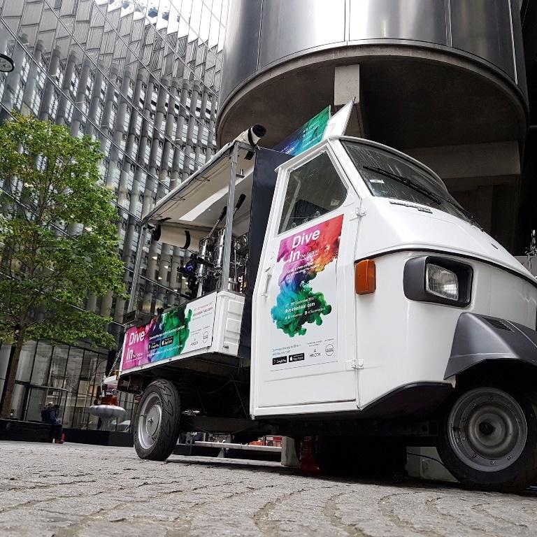 mobile coffee van promotion