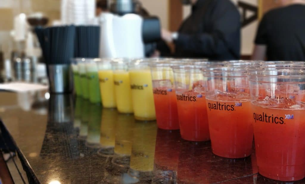 branded smoothie cups