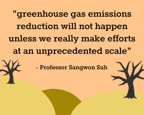 climate change comment from professor sangwon suh