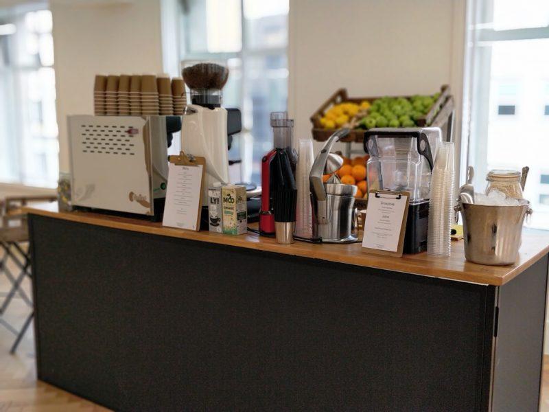 Coffee + smoothie bar